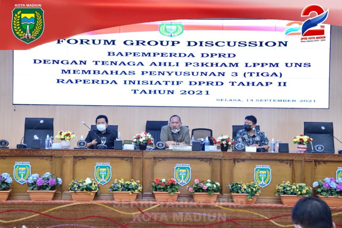 FGD (FOCUS GROUP DISCUSSION) 3 (TIGA) RAPERDA INISIATIF DPRD TAHAP  II TAHUN 2021